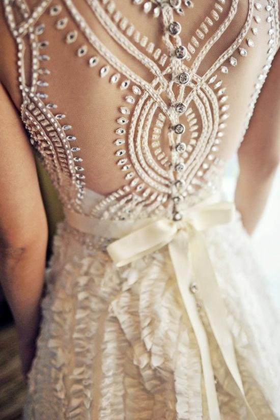 Bride Wedding Dress Buttons