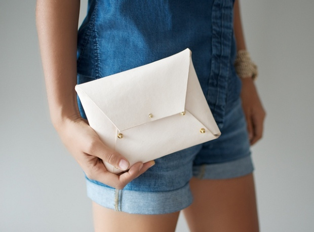 Leather Clutch from a Pair and a Spare