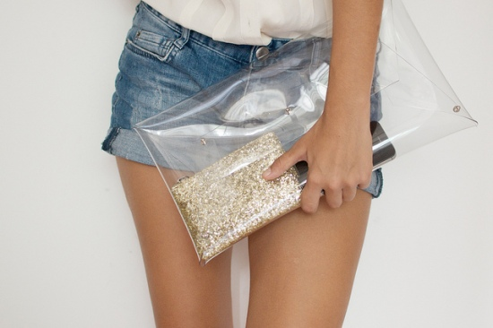 Transparent Clutch from A Pair and A Spare