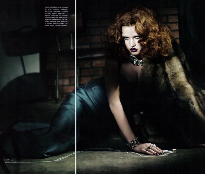 Lara Stone for Vogue 2009