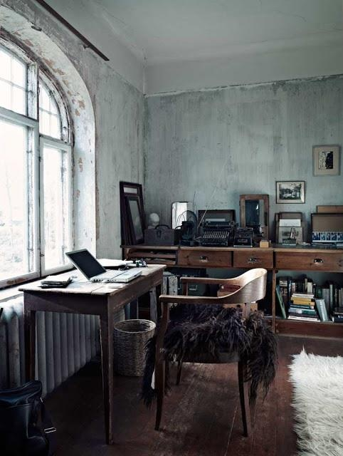 Dark Neutral Office Space