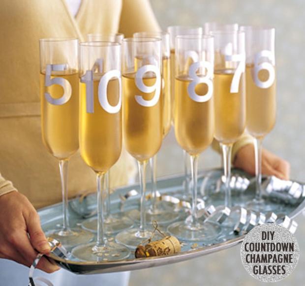 New Year's Countdown Champagne from Martha Stewart