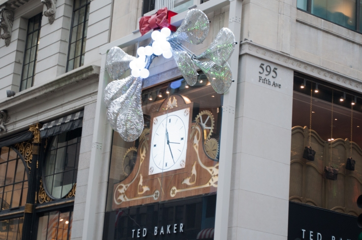 Ted Baker Holiday Window Clock