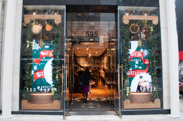 Ted Baker Holiday Window Clock Gears