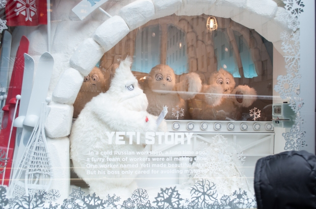 Saks 5th Avenue Holiday Yeti Story