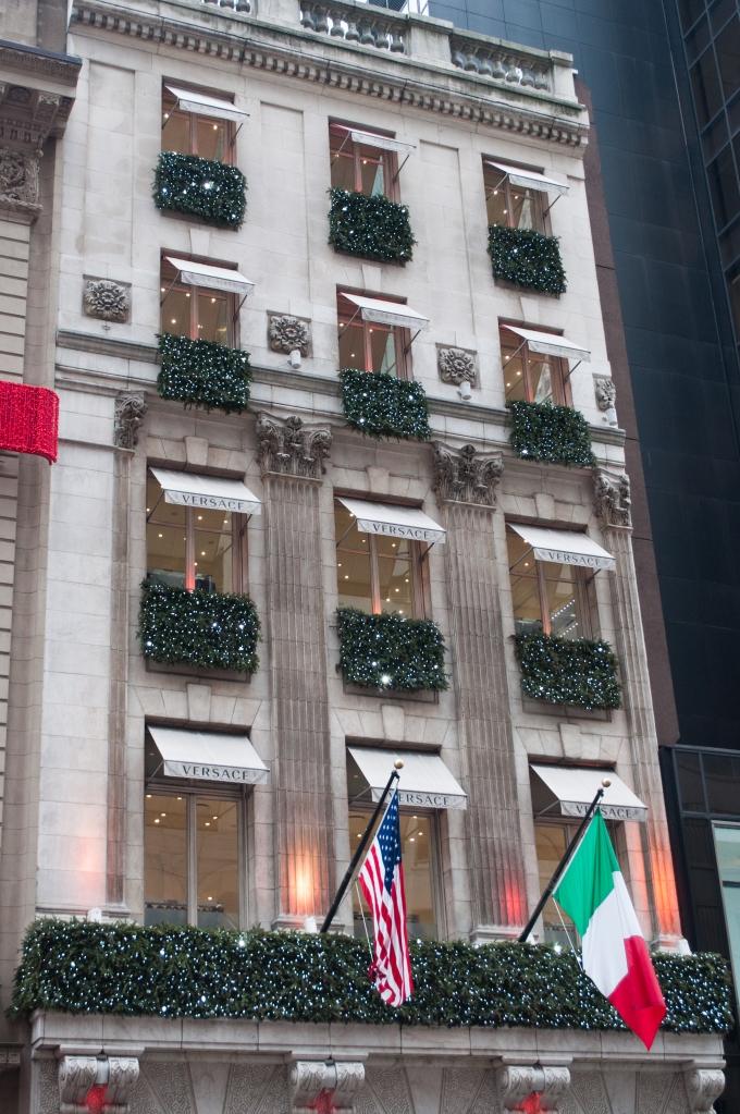Versace Holiday Window