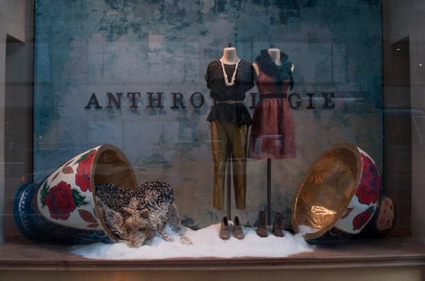 Anthropologie Nesting Doll Holiday Window