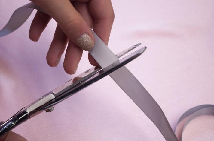 Cutting Ribbon for Nutcracker-Inspired Flat