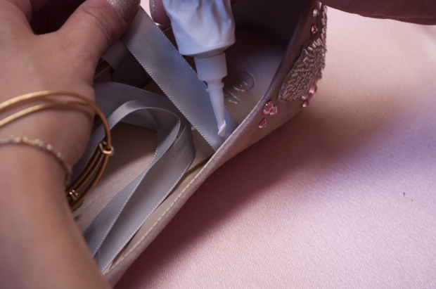 Gluing Ribbon for Nutcracker-Inspired Flat