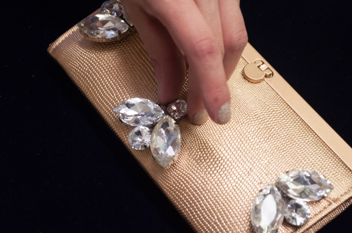 Bejeweled Holiday Clutch from M&J Trimming