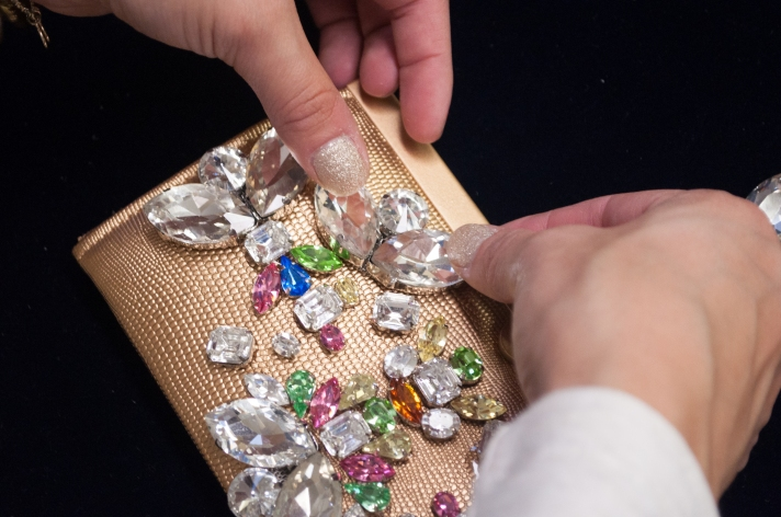 Bejeweled Holiday Clutch Rhinestone Sew-On from M&J Trimming