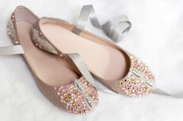 Finished Nutcracker-Inspired Ballet Flat
