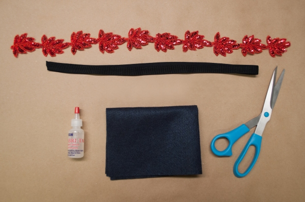 The No-Sew Holiday Headband DIY Materials