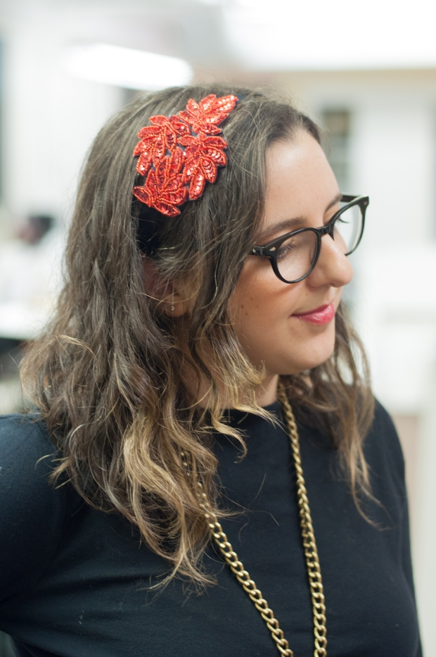 The No-Sew Holiday Headband DIY Michelle