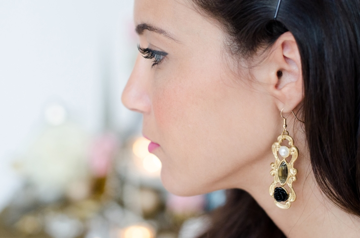 Project DIY Belle of the Ball Earrings