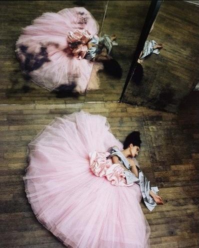 Ballerina with Full Pink Skirt