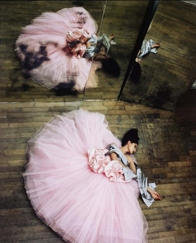 Ballerina with Full Pink Skirt