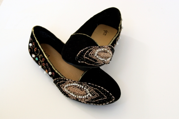 My Little Secrets Embellished Velvet Flats