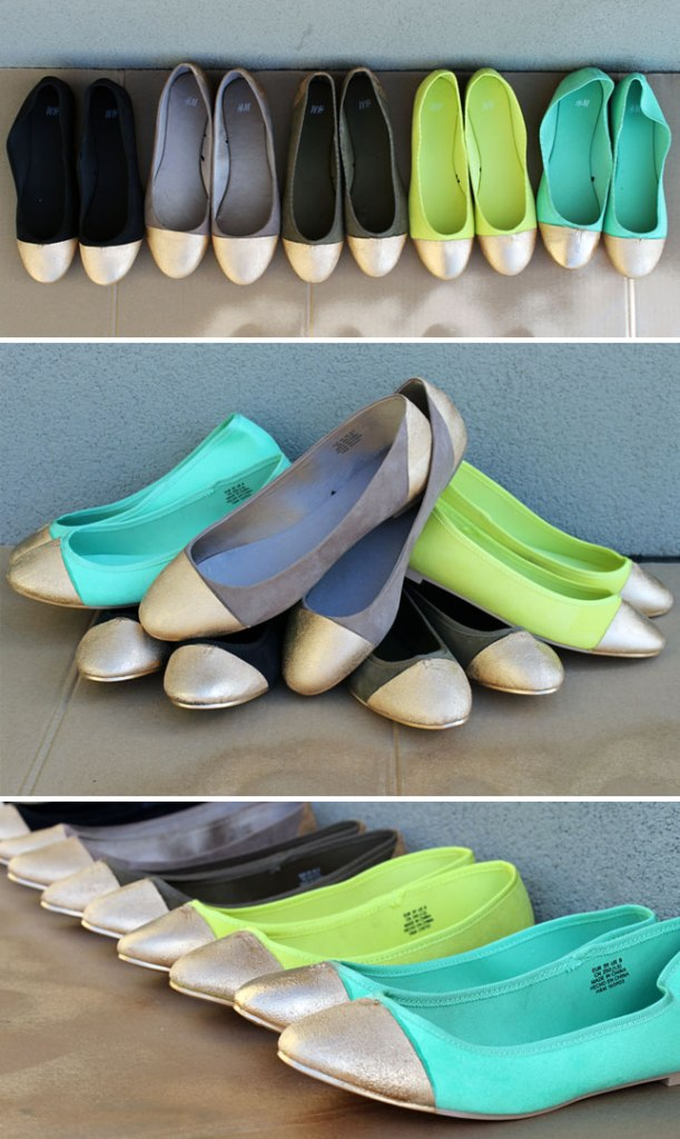 Gold-Tipped Flats from Brit.co