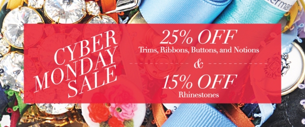 M&J Trimming Cyber Monday Sale