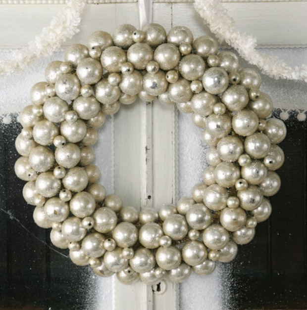 Pearl Holiday Wreath