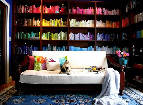 Rainbow Library from Top Design Mag