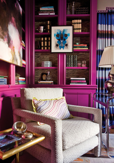 Bold Fuchsia Library from Belle Maison 23