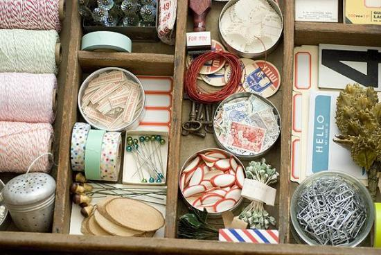 Organized Craft Drawer from Papier Valise