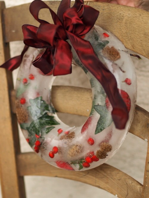 Christmas Ice Wreath from Founterier