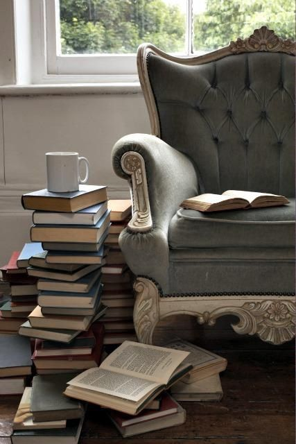 Stacked Books from Top Design Mag