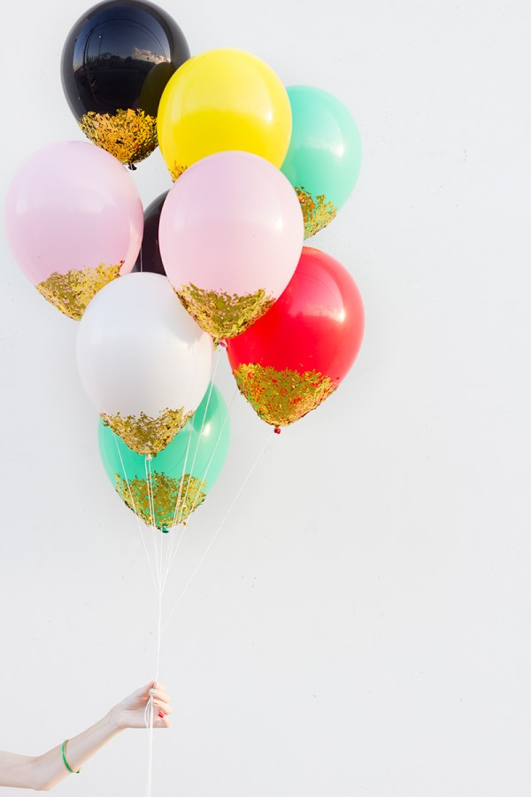 Confetti Dipped Balloons from Studio DIY