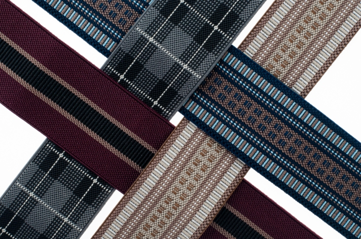 Patterned Menswear Elastic Trim from M&J Trimming