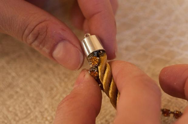 Gluing Cord and Rhinestone Chain