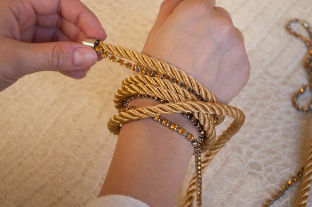 Measuring Wrap Bracelet on Wrist
