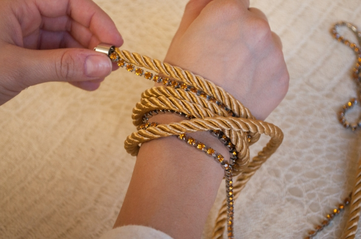 Measuring Wrap Bracelet on Wrist