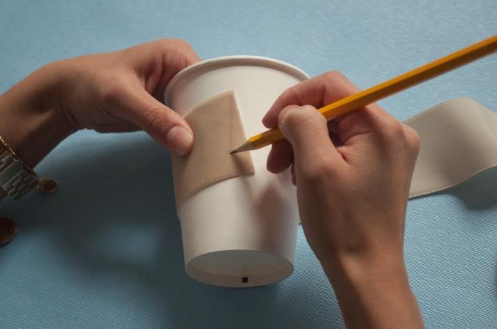 DIY Coffee Cup Cozy Measuring | M&J Trimming