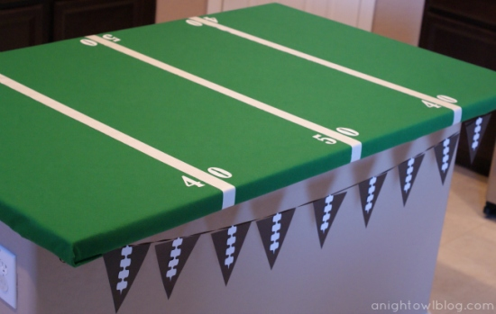 Football Field Part Table from A Night Owl Blog