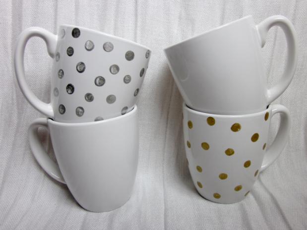Polka Dot Mugs from Framed Frosting