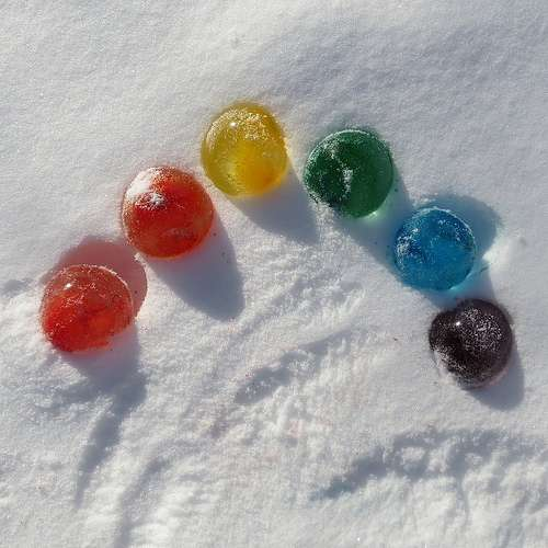 Ice Marbles for Winter