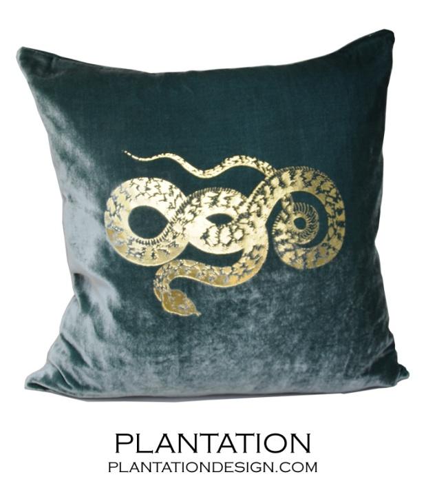 Plantation Design Reiki Pillow