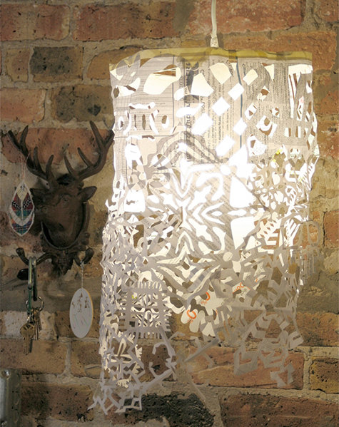 Snowflake Pendant Light from Design Sponge
