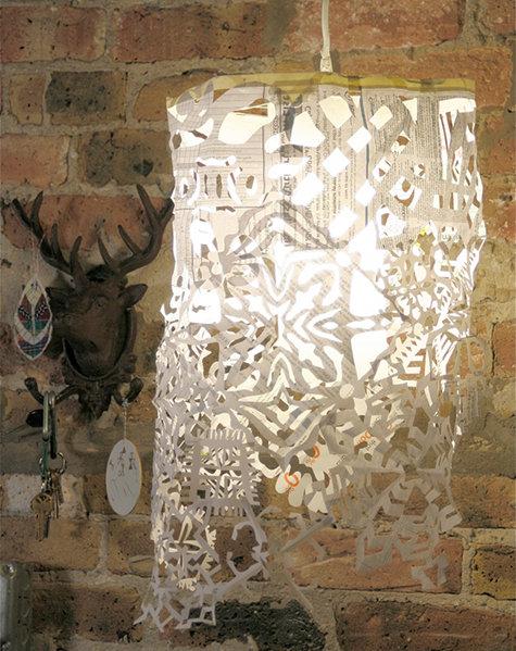 Snowflake Pendant Light from Design Sponge