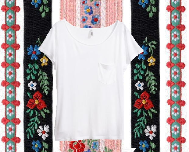 T-shirt with Jacquard