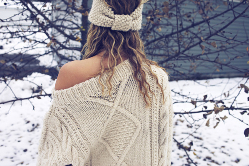 Winter White Headband and Sweater