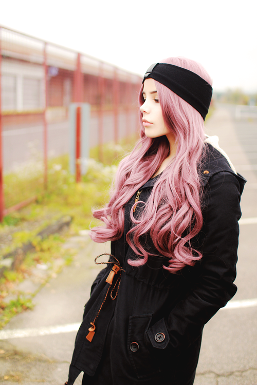 Black Headband and Pink Hair