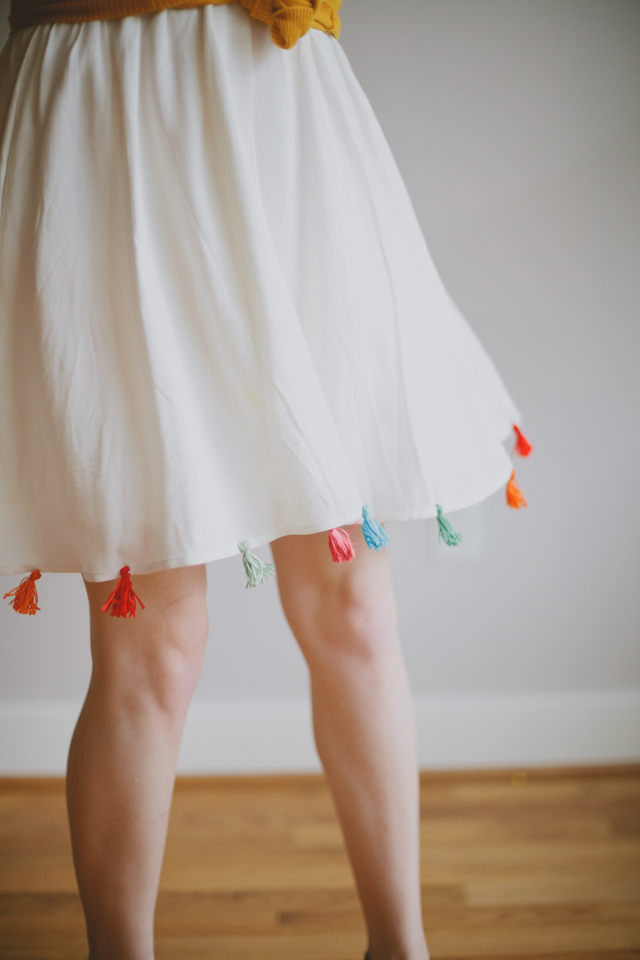 Vanilla and Lace Tassel Accent Skirt