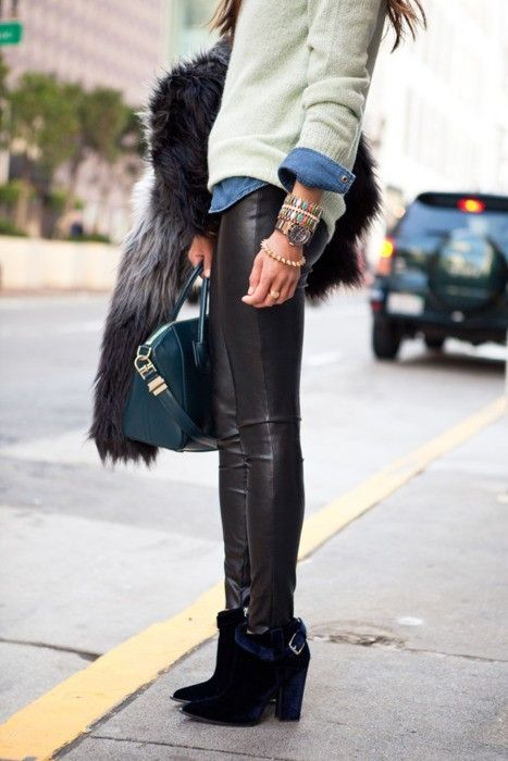 Boots and Leather Leggings