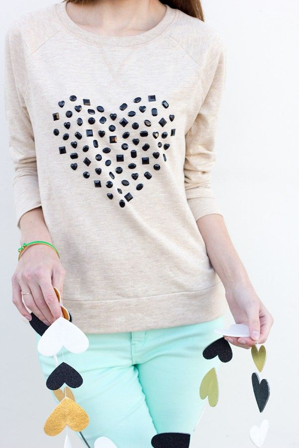 Jeweled Heart Sweatshirt from Studio DIY
