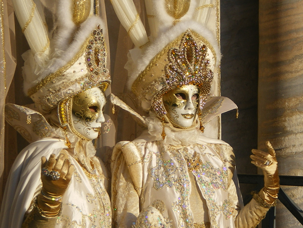 Venetian Couple During Carnival