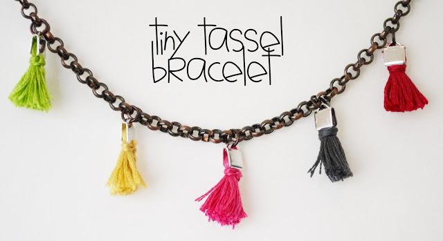 Tiny Tassel Bracelet from Maize Hutton